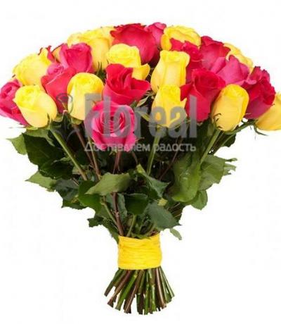 Желтые и розовые